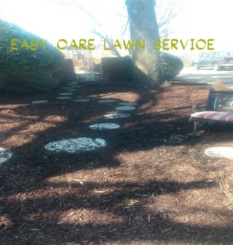 mulch and walkway